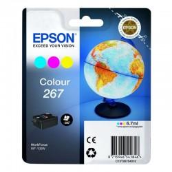 Cartucho tricolor  epson 267 - 6.7ml - cian / magenta / amarillo - compatible con wf-100w - globo terráqueo