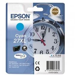 Cartucho cian epson 27xl durabrite - 10.4ml - despertador - para wf-3620dwf / wf-3640dtwf / wf-7110dtw / wf-7610dwf /