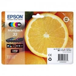 Cartucho tinta epson multipack 33 claria premium - 24.4ml - 5 colores (negro / negro foto / amarillo / cian / magenta) - naranja