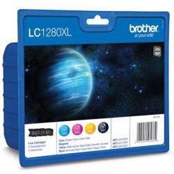 Cartucho de tinta original brother lc-1280xl alta capacidad multipack/ cian/ magenta/ amarillo/ negro