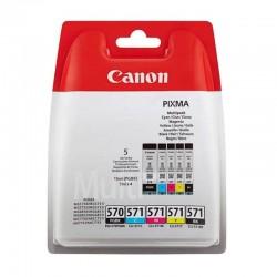Multipack cartuchos de tinta canon pgi-570bk / cli-571 bk / c / m / y  - compatible según especificaciones