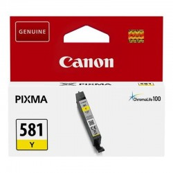 Cartucho tinta amarilla canon cli-581y - 80 páginas - compatible según especificaciones
