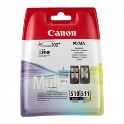 Cartucho de tinta original canon pg-510 + cl-511 multipack/ negro/ tricolor