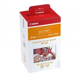 Multipack canon rp-108 cartucho tinta color + papel fotográfico - imprime hasta 108 impresiones - compatibilidad según