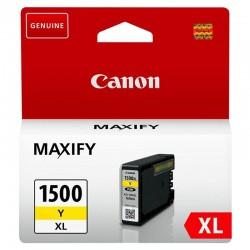 Cartucho de tinta amarillo canon pgi-1500xl - 12ml - compatible según especificaciones