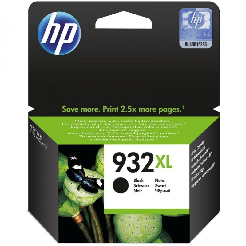 Cartucho negro hp nº932xl para hp officejet 6100 / 6600 / 6700