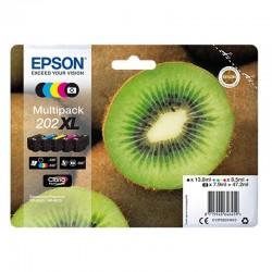Cartucho tinta epson t02g740 multipack 202xl - 47.2ml - 5 colores (negro / negro foto / amarillo / cian / magenta) - kiwi