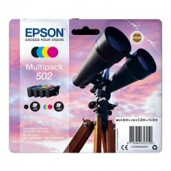 Cartucho tinta epson multipack 502 - negro (4.6ml) /cian / magenta / amarillo (3.3ml) - binoculares
