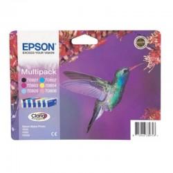 Cartucho tinta epson multipack t0807 - 44.4ml - 6 colores (negro / amarillo / cian / magenta / magenta claro / cian claro) -