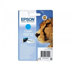 Cartucho de tinta cian epson t0712 -  5.5ml - guepardo - compatible segun especificaciones