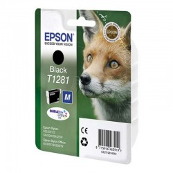 Cartucho tinta negro epson t1281 - 5.9ml - zorro - compatible segun especificaciones