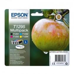 Cartucho tinta epson t1295 multi-pack - negro/cian/magenta/amarillo - manzana