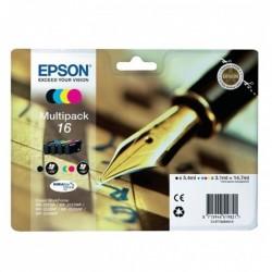 Cartucho tinta epson multipack 16 durabrite - 14.7ml - 4 colores (negro / amarillo / cian / magenta) - pluma y crucigrama