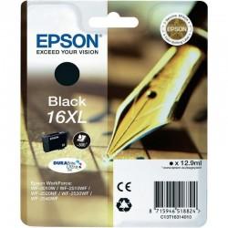 Cartucho tinta epson durabrite ultra 16xl negro -12.9ml - para impresora wf-2010w/wf-2510wf/wf-2520nf/ - pluma y crucigrama