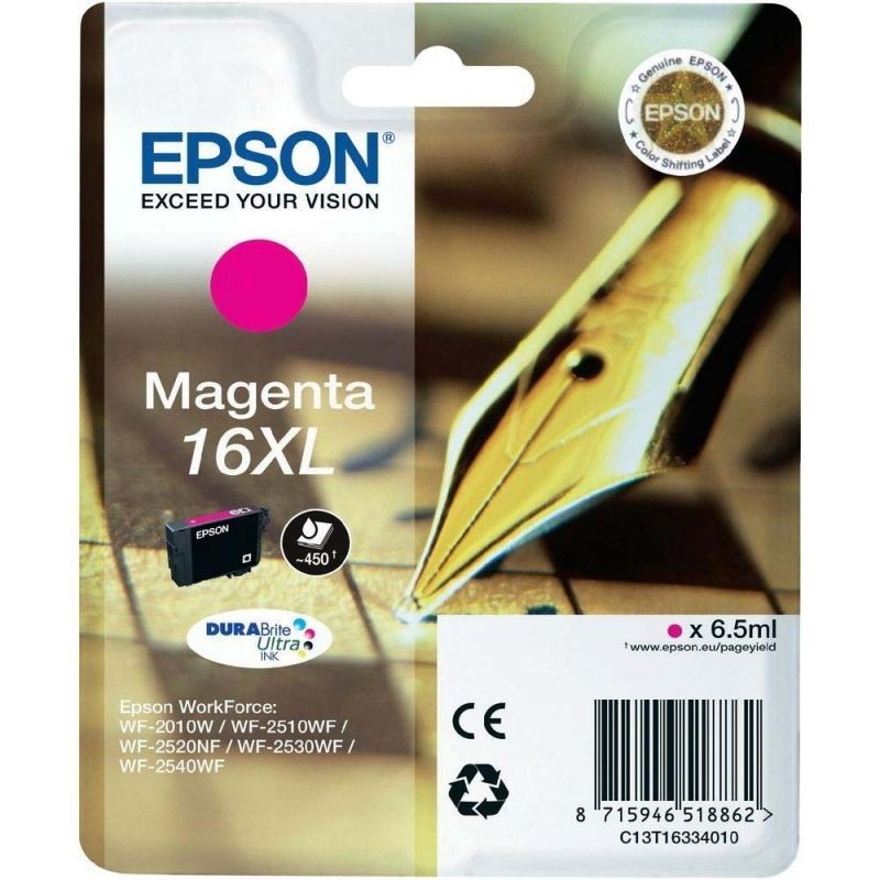 Cartucho tinta epson ultra 16xl magenta 6.50ml pluma y crucigrama