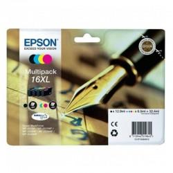 Cartucho de tinta original epson nº16 xl alta capacidad multipack/ negro/ cian/ amarillo/ magenta