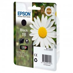 Cartucho tinta negro epson 18 claria home ink - 5.2ml - margarita - compatible segun especificaciones