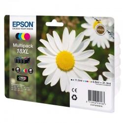 Cartucho tinta epson t181640 31 ml  multipack -18xl margarita