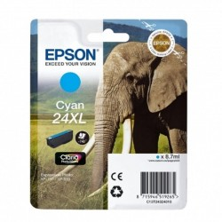 Cartucho epson 24xl 8.7ml cian - elefante