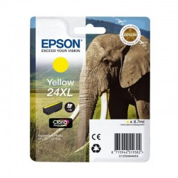 Cartucho epson 24xl 8.7ml amarillo - elefante