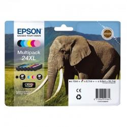 Cartucho tinta epson multipack 24xl - 55.7ml - 6 colores (negro / amarillo / cian / magenta / magenta claro / cian claro) -