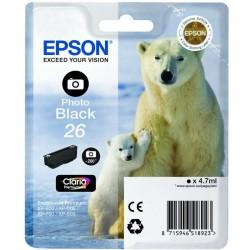 Cartucho tinta negro foto epson t2611 - 26 4.7ml - oso  polar - compatible segun especificaciones