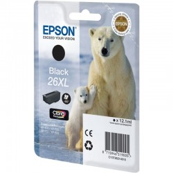 Cartucho  epson 26xl 12.2ml negro - oso polar