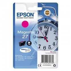 Cartucho tinta magenta epson 27 durabrite - 3.6ml - despertador - compatible según especificaciones