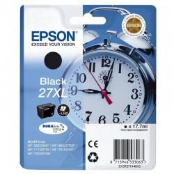 Cartucho negro epson 27xl durabrite - 17.7ml  - despertador