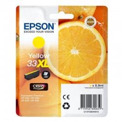 Cartucho tinta amarillo epson 33xl - 8.9ml - naranja - para xp-530 /xp-540 / xp-630 / xp-635 / xp-640 / xp-645 / xp-830 / xp-900