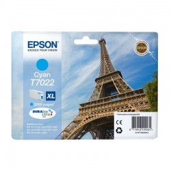 Cartucho cian xl epson t70224010 - 2000 paginas - compatible segun especificaciones