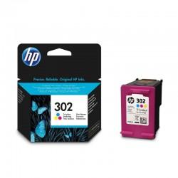 Cartucho de tinta color hp nº302 - 165 páginas aprox. - para deskjet 1110/2130/2132/2134/3630 / officejet 3830/3832/3833/3834