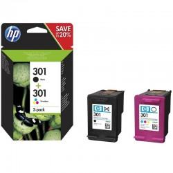 Cartucho de tinta original hp nº301 multipack/ negro/ tricolor