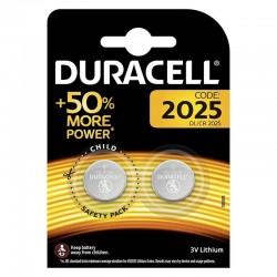 Pack 2 pilas de boton duracell 2025 - 3v - litio