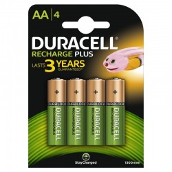 Pack de 4 pilas aa duracell hr6-b/ 1.2v/ recargables