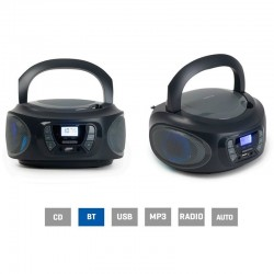 Radio cd fonestar boom-one-g gris - 4w rms - bluetooth - fm - usb/mp3 - aux in - salida auriculares - efectos luminosos