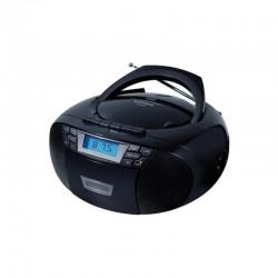 Radio cd sunstech cxum53bk black - 2w - cd/r/rw/mp3/wma - fm - usb/aux-in - pantalla lcd