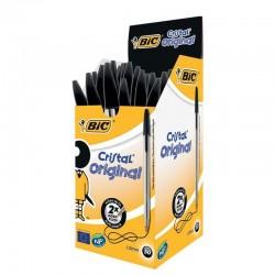 Caja de 50 unidades boligrafo tinta aceite punta 1.0 mm negro bic cristal
