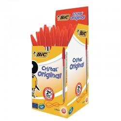 Bolígrafos de tinta bic cristal original 8373619/ 50 unidades/ rojo
