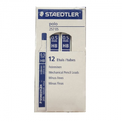 Minas staedtler polo 257 05-hb/ hb/ 0.5mm/ 12 unidades