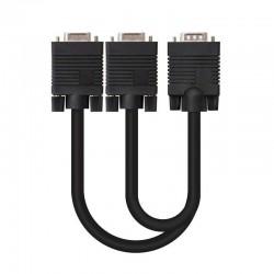 Cable bifurcador svga nanocable 10.15.2000 - conectores hdb15/m-2*hdb15/h - 45cm - negro