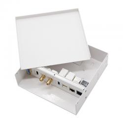Caja de conexiones multimedia de pared nanocable 10.35.0003 - vga - hdmi - jack3.5 - rca - usb3.0 - usb2.0 - 2xrj45 - blanco