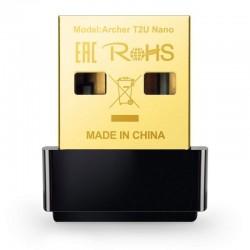 Adaptador inalámbrico usb tp-link archer tu2 nano - 802.11a/ac/b/g/n - 2.4ghz/5ghz - 433mbps/200mpbs - antena interna