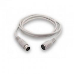 Cable alargador ps2 3go c305/ mini din macho - mini din hembra/ 1.8m/ blanco