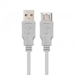 Cable alargador usb 2.0 nanocable 10.01.0202 - conectores usb tipo a macho/ usb tipo a hembra - 1m - beige