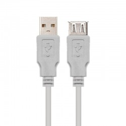 Cable alargador usb 2.0 nanocable 10.01.0202/ usb macho - usb hembra/ 1m/ beige