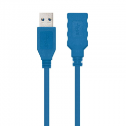 Cable alargador usb 3.0 nanocable 10.01.0901/ usb macho - usb hembra/ 1m/ azul