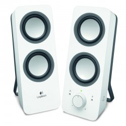Altavoces 2.0 logitech z200 10w control graves 3.5mm blanco 980-000811