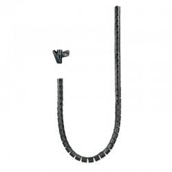 Organizador de cables nanocable 10.36.0001-bk - 1m - diámetro hasta 25mm - color negro